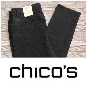 Chico's NWT Gray So Slimming Peyton Pant (Size 10)